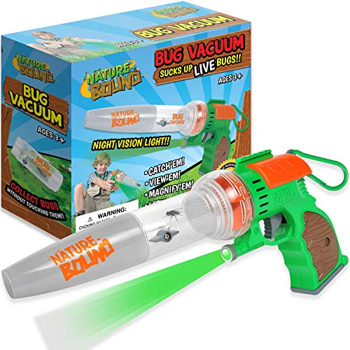 Nature Bound Bug Catcher Toy, Eco-Friendly Bug Vacuum, Catch and Release Indoor/Outdoor Play, Ages 3 to 12, Green (NB566)