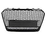 Duokon RS5 Quattro Style Hex Honeycomb Grill, Frente Deporte Hex Mesh Honeycomb Hood Grill Negro para A5 / S5 B8.5 13-16