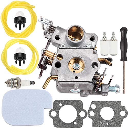 Kuupo P3314 C1M-W26 Carburetor w Air Filter Adjustment Tool Kit for Poulan P3416 530057925 S1970 P3816 P4018 PP3416 PP3516 PP3816 PP4018 PPB3416 PPB4018 PPB4218 Power Gas Engine 42cc Chainsaw Parts -  545070601 530035589 530035590 545040701