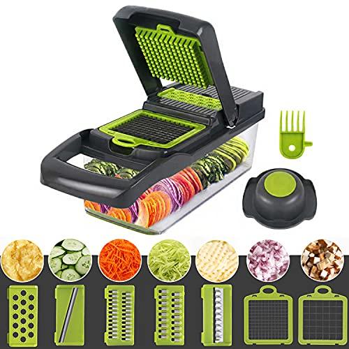 Celciaga Vegetable Chopper Veggie Slicer,Pro Food Slicer Dicer Cutter with...