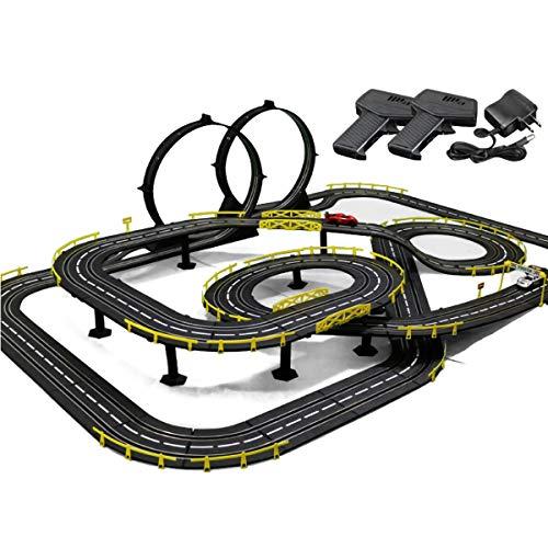Pistas De Carreras 11.8m Modelo Modelo Tracer Racers 1: 43 Escala R/C Control De Alta Velocidad Racing Racing Slot Cars-Rails Boy and Girl Cumpleaños Regalos Distribución De Cumpleaños Play Playets