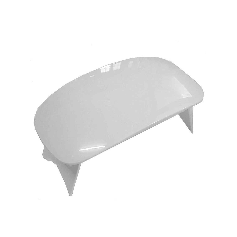 失速寝るソーダ水ゲルの磨くことのための紫外線釘ライト小型 6W LED の釘ライト、2つのタイミングの設定 (45s/60) (ピンク),White