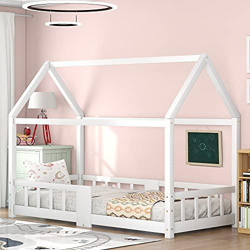 Cuna infantil de 90 x 200 cm, cama juvenil de madera para...