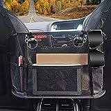 DIOSAVO Upgraded Car Net Pocket, Handbag Holder, Mesh Organizer with Elastic Protective Belts -...