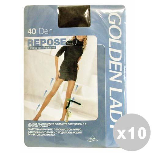 GOLDEN LADY Repose Set 10 GOLDEN LADY Repose Strumpfhose 40 DEN rauchgrau Größe XL 36g