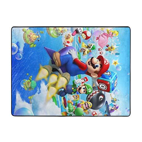 Sonickingmall Super Mario Super weicher Teppich Wohnzimmer Schlafzimmer Küche Kinderzimmer Bequem Art Deco Polyester Teppich 160 x 122 cm
