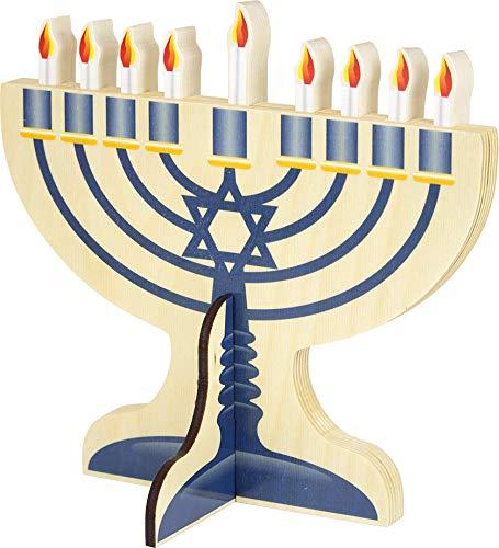 Wooden Hanukkah Menorah - Made in USA