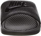 Nike Men's Benassi Just Do It Athletic Sandal, Black, 8 D(M) US
