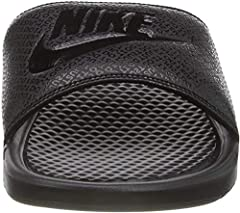 SPORTY STYLE: Lightweight sports slide sandal for men with a bold Nike logo embellished on the strap for plush comfort and an athletic look. CASUAL COMFORT: Sandal has injected Phylon midsole that doubles as an outsole for lightweight cushioning. Its...