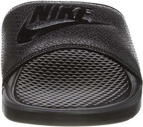 Nike Men's Benassi Just Do It Athletic Sandal, Black, 12 D(M) US