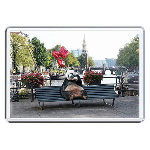 stadtecken magneten 10x7cm +++ Amsterdam motieven: Panda I Holland Nederland | koelkastmagneten I Leven & Momenten grappig I Whiteboard I Souvenir I Gift I Cadeau-idee