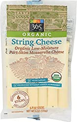 365 Whole Foods Market, Organic String Cheese (6 - 1 Ounce Sticks), 6 Ounce (Packaging May Vary)