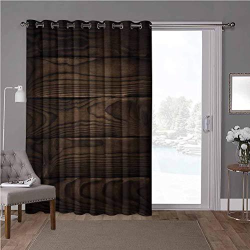 YUAZHOQI - Cortinas opacas aisladas térmicas de alta calidad, color chocolate y madera de estilo vintage, 1 panel de oscurecimiento de habitación de 52 x 96 pulgadas (1 panel)
