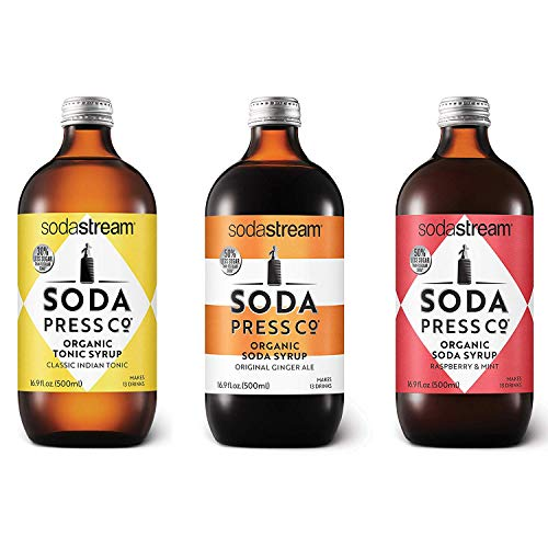 Soda Press Craft Mixers Flavors Variety Pack for SodaStream, 16.9 Fl Oz