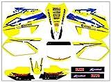 Calcomanías Motocicleta Juego Completo de Pegatinas gráficos Decals Kit for Suzuki RM125 RM250 1999 2000 250 for Suzuki RM 125 RM (Color : As Shown)