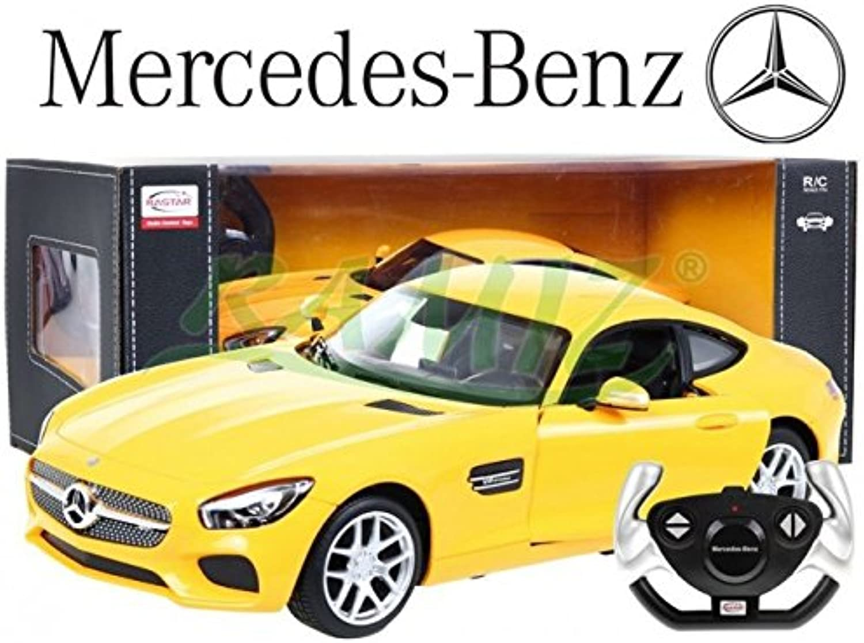 BSD RASTAR R C Car Mercedes AMG Gt 1 14  Yellow
