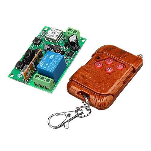 Un known Accesorios Electrónicos 433Mhz WiFi Remoto Módulo de relé móvil aplicación de Control Remoto inalámbrico de Control Remoto de Accesorios