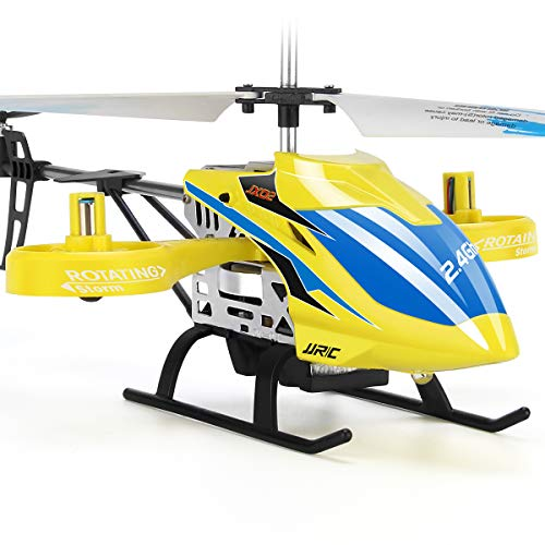 JJRC RC Helicopter, Aircraft with 4 Channel, Altitude Hold Flying Toy in Sturdy Alloy Material, Gyro Stabilizer Multi-Protection Drone for Kids and Beginners