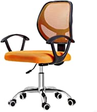 High-quality recliner Executive Recline Ergonomic Mesh Chairs, Office with Adjustable Armrest Lumbar Support Recliner Swivel Task Computer Desk Chair Office Chair (Color : Orange)