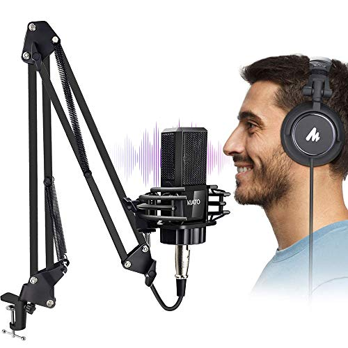 USB Microphone with Studio Headphone Set Computer PC Headphone Microphone Kit for Instruments Voice Overs Recording Podcasting YouTube Karaoke Gaming Streaming