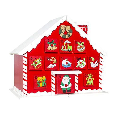 rcraftn Navidad Escena De Pueblo De Madera Calendario De Adviento Decoración De Madera Reutilizable Regalo De Cuenta Regresiva De Navidad Sorpresa Decoración De Navidad Chic Enjoyment