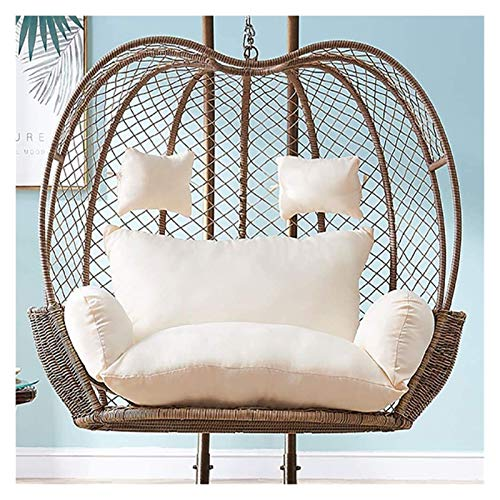 Home Decoration Swing Chair Cushion Large Double Swing Chair Cushion Without Stand, Thicken Hanging Egg Hammock Chair Cushion, Wicker Rattan Hanging Basket Seat Cushion Hanging Basket Furniture Cushio