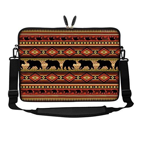 Meffort Inc 17 17.3 inch Neoprene Laptop Sleeve Bag Carrying Case with Hidden Handle and Adjustable Shoulder Strap - Bear