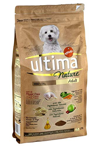 Ultima Ultima nature nuggets hunde 1-10 kg adult mini huhn-brown-reis gemüse obst 1,25kg format (2er-set)