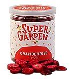 Supergarden arándano agrio liofilizado a rodajas - Producto 100% puro y natural - Apto para veganos - Sin azúcares, aditivos artificiales ni conservantes añadidos - Sin gluten - No OMG