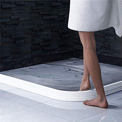 Bad Wasserbarriere Silikonstreifen Duschwanddichtung, Flexibler Silikon-duschkabinen dichtungen, Bad Wassersperre Für Nass- Und Trockentrennung?Weiß? (100cm)