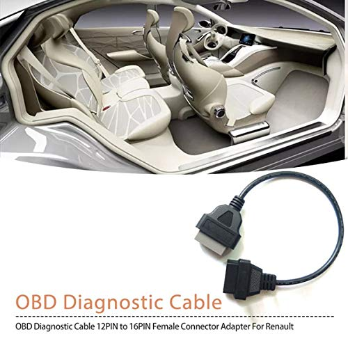 Eaglerich 14Pin to 16PIN OBD1 OBD2 Cable for Nissan OBD II Diagnostic Interface ELM327 Scanner Extension Adapter Cor
