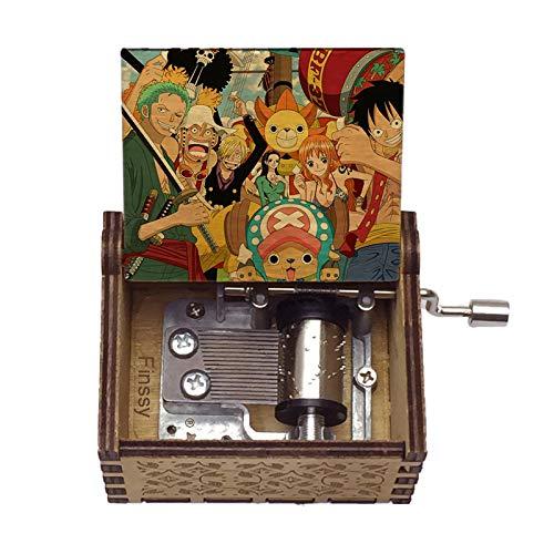 Plain,Wood Music Box,One Piece Music Box Crank Music Box Kids Musical Box Carved Music Box for Friends Birthday Present Party Decoration,4