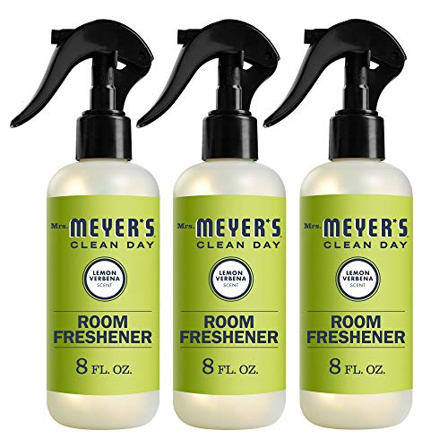 Mrs Meyer#039s Clean Day Room Freshener Spray Instantly Freshens the Air with Lemon Verbena Scent 8 oz Pack of 3