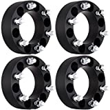 ECCPP 2' 50mm 6 Lug Wheel Spacer Adapters 6x5.5 to 6x5.5 (6x139.7) 14x1.5 Studs fits for 2003-2012 Cadillac Escalade Chevy Express Suburban Silverado GMC Sierra Savana 1500 Yukon(4X)
