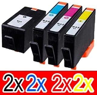 8 Pack Compatible HP 934XL 935XL Ink Cartridge Set (2BK,2C,2M,2Y) C2P23AA C2P24AA C2P25AA C2P26AA