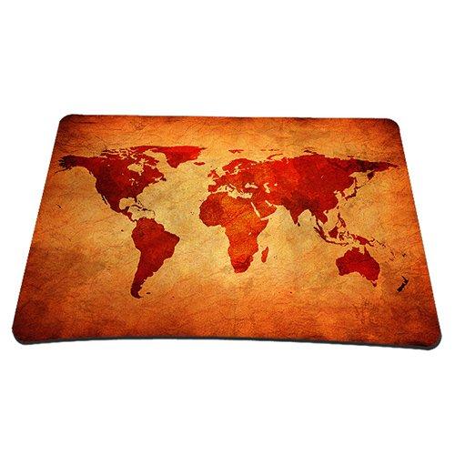 Pedea Gaming und Office Mauspad - 220 x 180 mm - mit vernähten Rändern und Rutschfester Unterseite, Brown global map