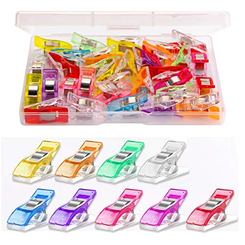 Multipurpose Sewing Clips 30 Pcs Premium Quilting Clips Assorted Colors Fabric Clips for Sewing Supplies Quilting Accessories Crafting Tools