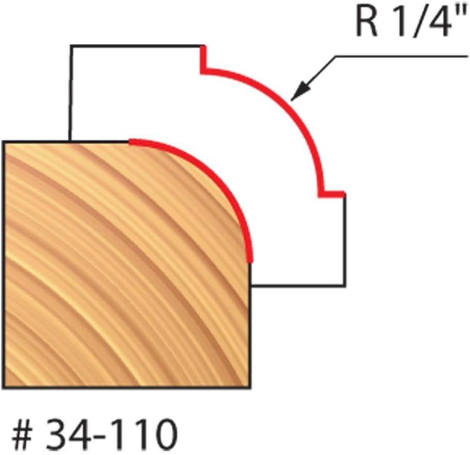 1//4 Shank Quadra-Cut 1 1//4 Radius Rounding Over Bit 34-110