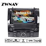 ZWNAV Andriod 8.1 2Din Estéreo para automóvil Navegación por GPS con navegación por satélite para Peugeot 407 2004-2010 Soporte para Europa 49 CD de mapeo de país DVD Dab + WiFi Pantalla táctil de 7'