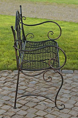 CLP Gartenbank TARA, Landhaus-Stil, Eisen lackiert, Design antik,113 x 47 cm, bis zu 5 Farben wählbar Bronze - 2