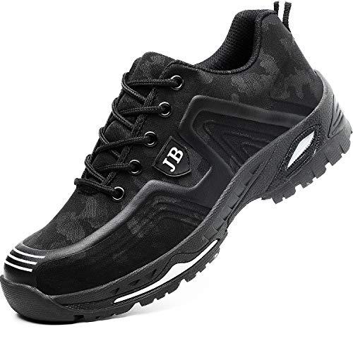 Hombre Zapatos de Seguridad Mujer Zapatos de Trabajo Puntera de Acero Zapatillas de...