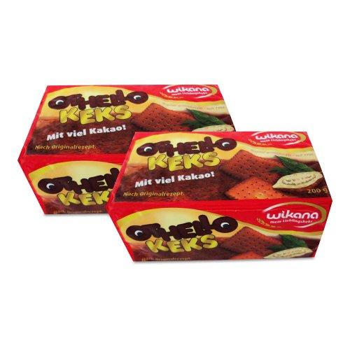 Wikana Othello Keks 2er Pack (2 x 200 g), Kakaokeks