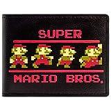 Super Mario Bros 8-Bit Retro-Posen Portemonnaie Geldbörse Schwarz