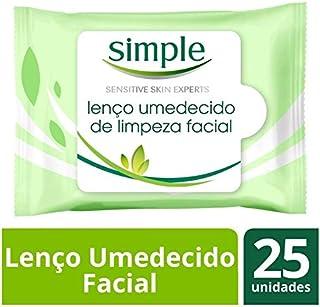 Lenço Demaquilante Simple Original 25 Unidades