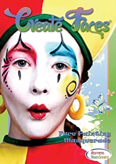 DVD - Create Faces - Masquerade Face Painting For Kids and Adults. Watch & Learn How To Do 8 Face Paint Designs With Water Based & Snazaroo Paints. 1.5 Hour Step By Step Video. Fairy, Harlequin, Butterfly, & Mardi Gras Styles For Parties & Costumes.