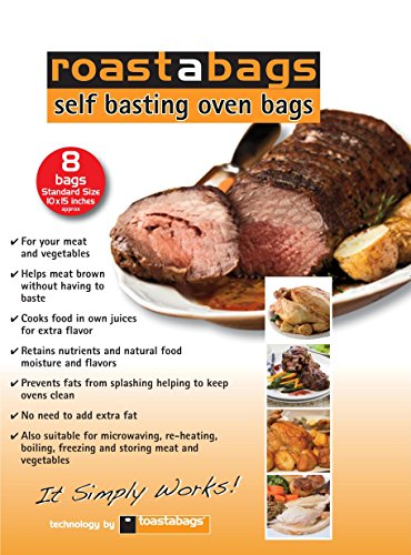 Roastabags - Self Basting Oven Bags (Pack of 8) for Brining...