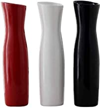 DPWH Vase, Creative Fashion Ceramic Vase, Suitable For Office And Home Minimalist Decoration, White, Black, Red (Color : White)