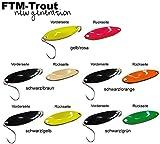 5 FTM Spoon Tango 1,8g - Forellenköder Set, Forellenblinker zum Spinnfischen, Forellenköder zum Spinnangeln, Blinker für Forellen, Löffelblinker