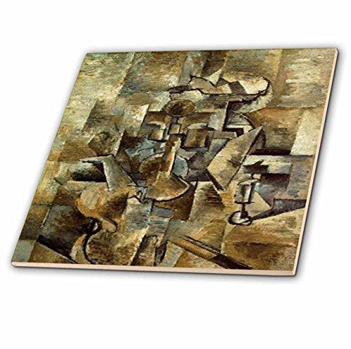 3dRose CT 61847_ 3Bild von Picasso Violine N-Keramik Fliesen, 20,3cm