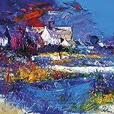 JOLOMO - Tarjeta de felicitación de noche en la Abadía Isla de Iona